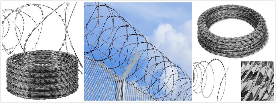 Razor wire in Kenya